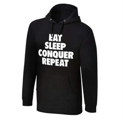 Brock Lesnar Eat Sleep Conquer Repeat Pullover Hoody Sweatshirt New