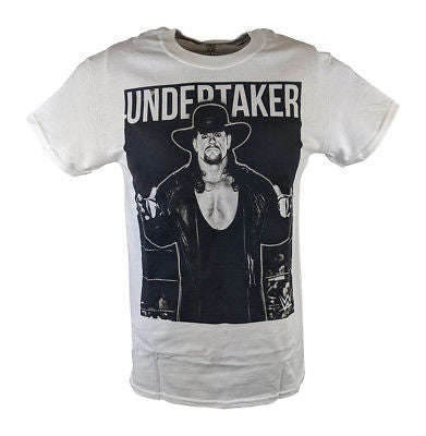 Undertaker The Deadman Cometh WWE Mens White T-shirt