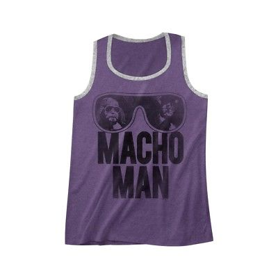 Macho Man Randy Savage WWE Purple Mens Tank Top Shirt