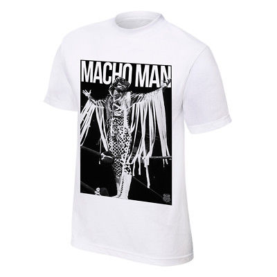 Macho Man Randy Savage Definitive Superstar WWE Mens White T-shirt