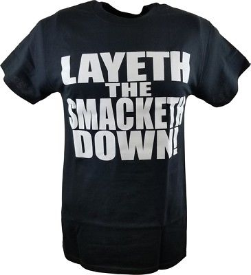 The Rock Layeth the Smacketh Down on Your Candyass Mens Black T-shirt