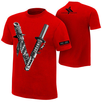 Shinsuke Nakamura Vibe WWE Authentic Mens Red T-Shirt