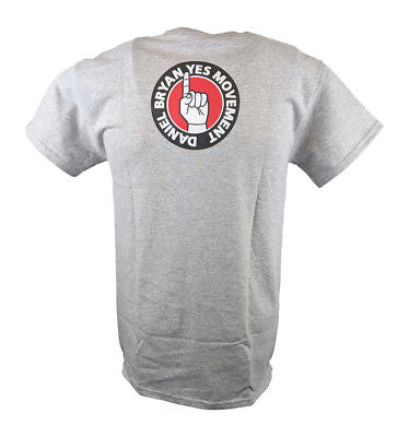 Daniel Bryan Yes Movement Mens Gray T-shirt