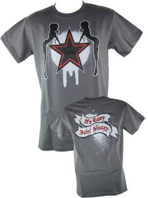 Edge Rated R Superstar Easy Being Sleazy Grey Mens T-shirt