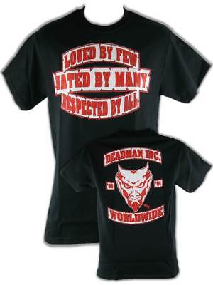 Undertaker Deadman Inc Loved By Few Respected By All Mens Black T-shirt
