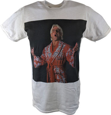 Ric Flair Red Robe Photo WWE Mens White T-shirt