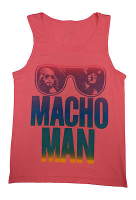 Macho Man Randy Savage Mens Pink Tank Top T-shirt