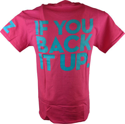 Dolph Ziggler Pink Show Off Back It Up Mens T-shirt