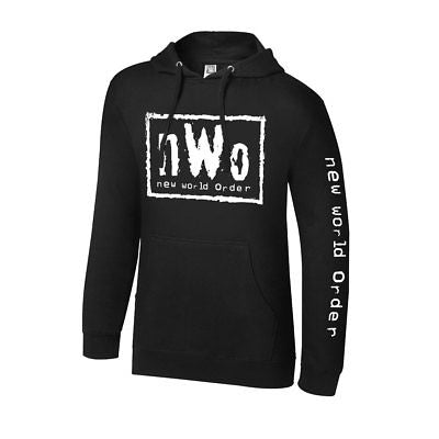 nWo New World Order Mens Black Pullover Hoody Sweatshirt