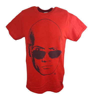 The Rock Face Profile WWE Mens Red T-shirt