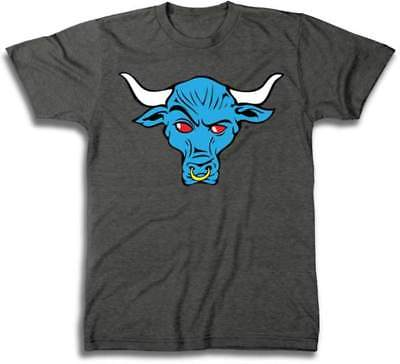The Rock Blue Brahma Bull WWE Mens Grey T-shirt