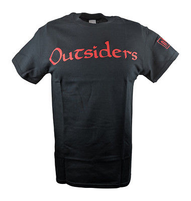 nWo Outsiders Red Logo Kevin Nash Scott Hall WCW Mens T-shirt