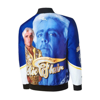 Ric Flair Blue White WWE Mens Legends Fanimation Chalkline Jacket