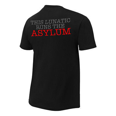 Dean Ambrose This Lunatic Runs the Asylum WWE Authentic Mens T-shirt