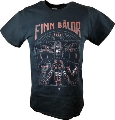 Finn Balor Vitruvian Man WWE Mens Black T-shirt
