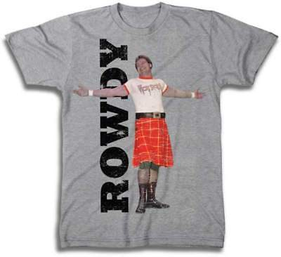 Rowdy Roddy Piper Legends Collection WWE Mens Gray T-shirt