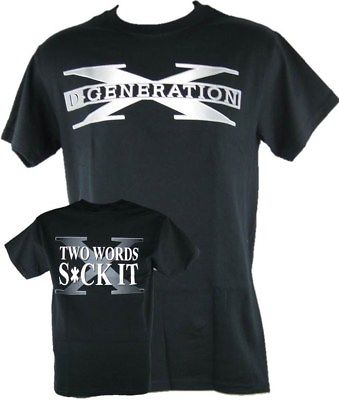 DX D-Generation X Two Words Suck It Classic Logo Black T-shirt