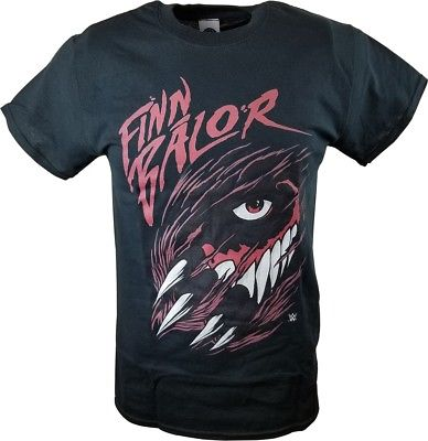 Finn Balor Scratching Through WWE Mens Black T-shirt