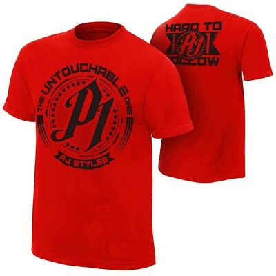 AJ Styles Untouchable Mens Red T-shirt