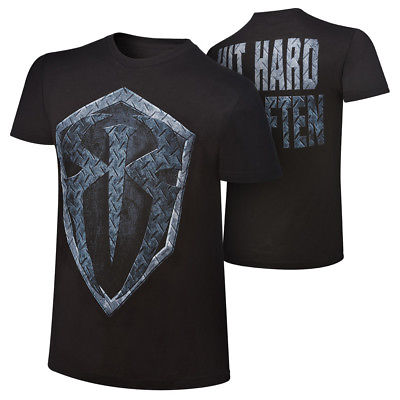 Roman Reigns Hit Hard Hit Often Shield WWE Authentic Mens T-shirt