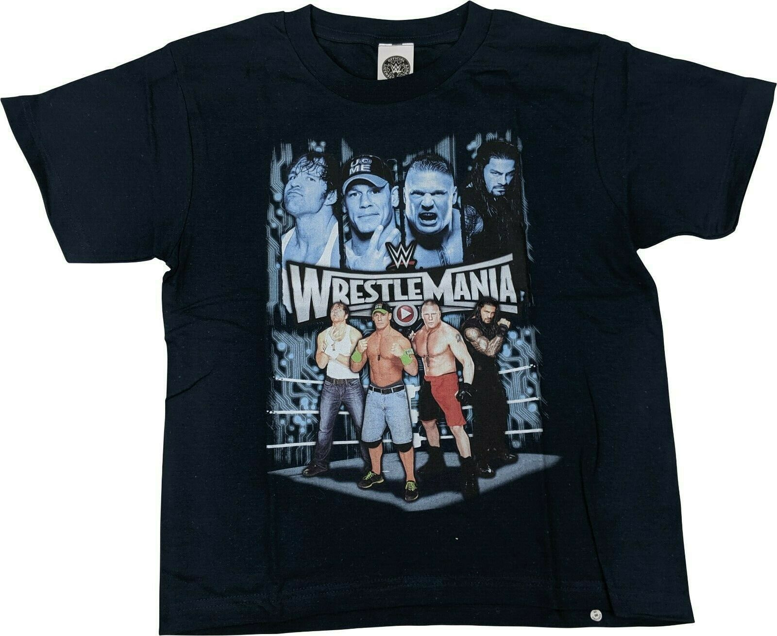 Wrestlemania Cena Ambrose Lesnar Reigns WWE Boys Kids Juvy T-shirt