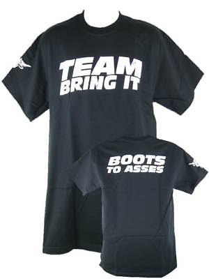The Rock Team Bring It Boots to Asses Mens Black T-shirt
