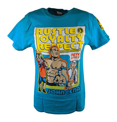 John Cena Blue Throwback Mens T-shirt