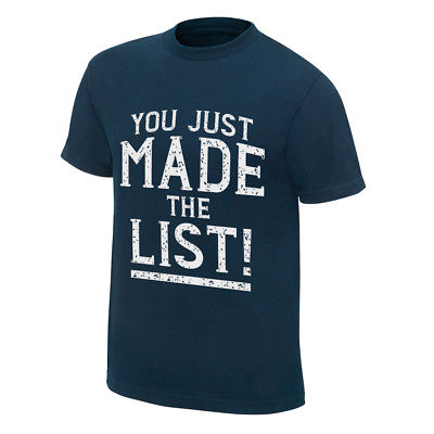 Chris Jericho You Just Made The List Mens Blue T-shirt New