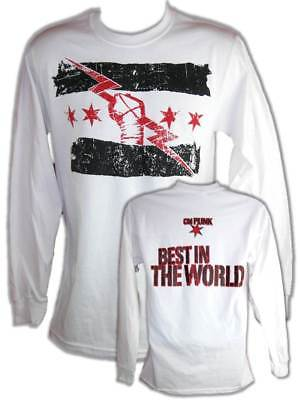 CM Punk White Best In The World Long Sleeve T-shirt
