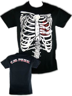 CM Punk Ribs Straight Edge Hard Core Mens Black T-shirt