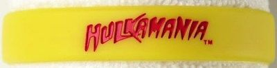 Hulk Hogan Hulkamania Yellow Rubber Bracelet