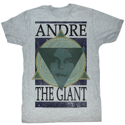 Andre the Giant Geometric WWE Mens Gray T-shirt