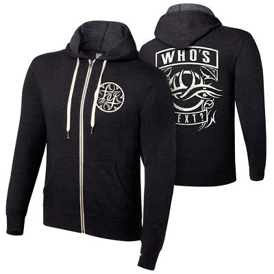 Bill Goldberg Who's Next WWE Authentic Mens Zipper Hoody Sweatshirt