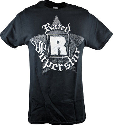 Edge Rated R Superstar Logo Mens Black T-shirt