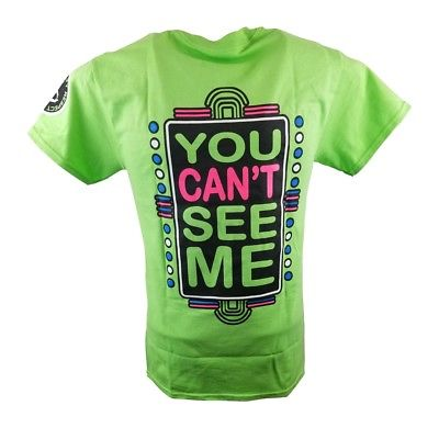 John Cena Lime Green Neon Green Never Give Up Mens T-Shirt