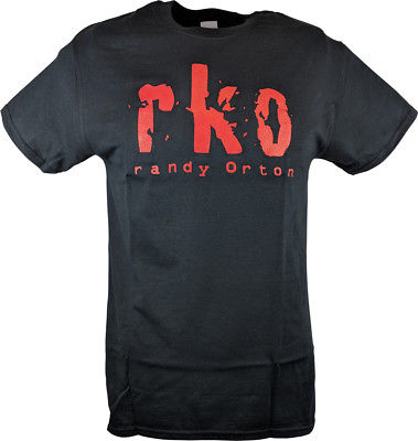 RKO Randy Orton Red Tattoo Mens Black T-shirt