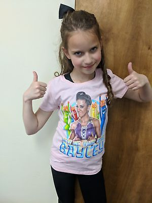 Hey We Want Some Bayley WWE Girls Kids Pink T-shirt