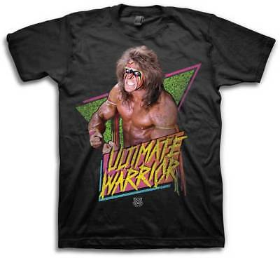 Ultimate Warrior Flex Pose WWE Mens Black T-shirt