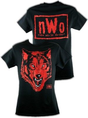 nWo Black Wolfpack New World Order Wolf pack Mens T-shirt