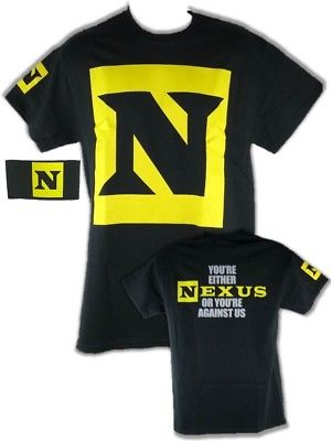 Nexus or Against Us Mens Black T-shirt CM Punk Wade Barrett Daniel Bryan