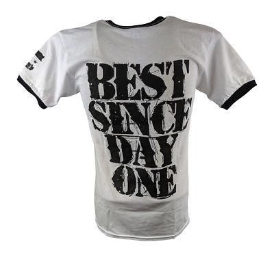 CM PUNK Best Since Day One Mens White Ringer T-shirt
