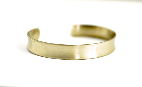 "bracelet / brass mini 3/8"" flared cuff"