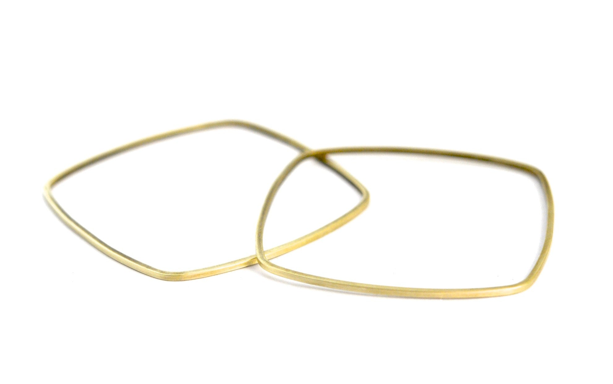 bracelet / brass square bangles set of 2