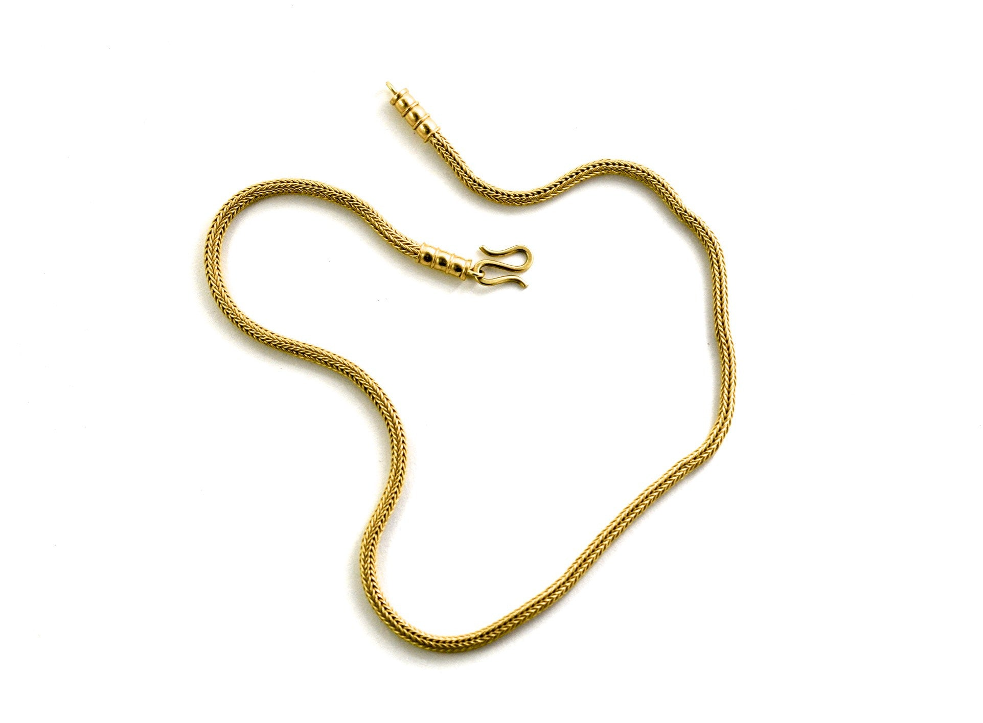 necklace  / gold 22k hand woven chain