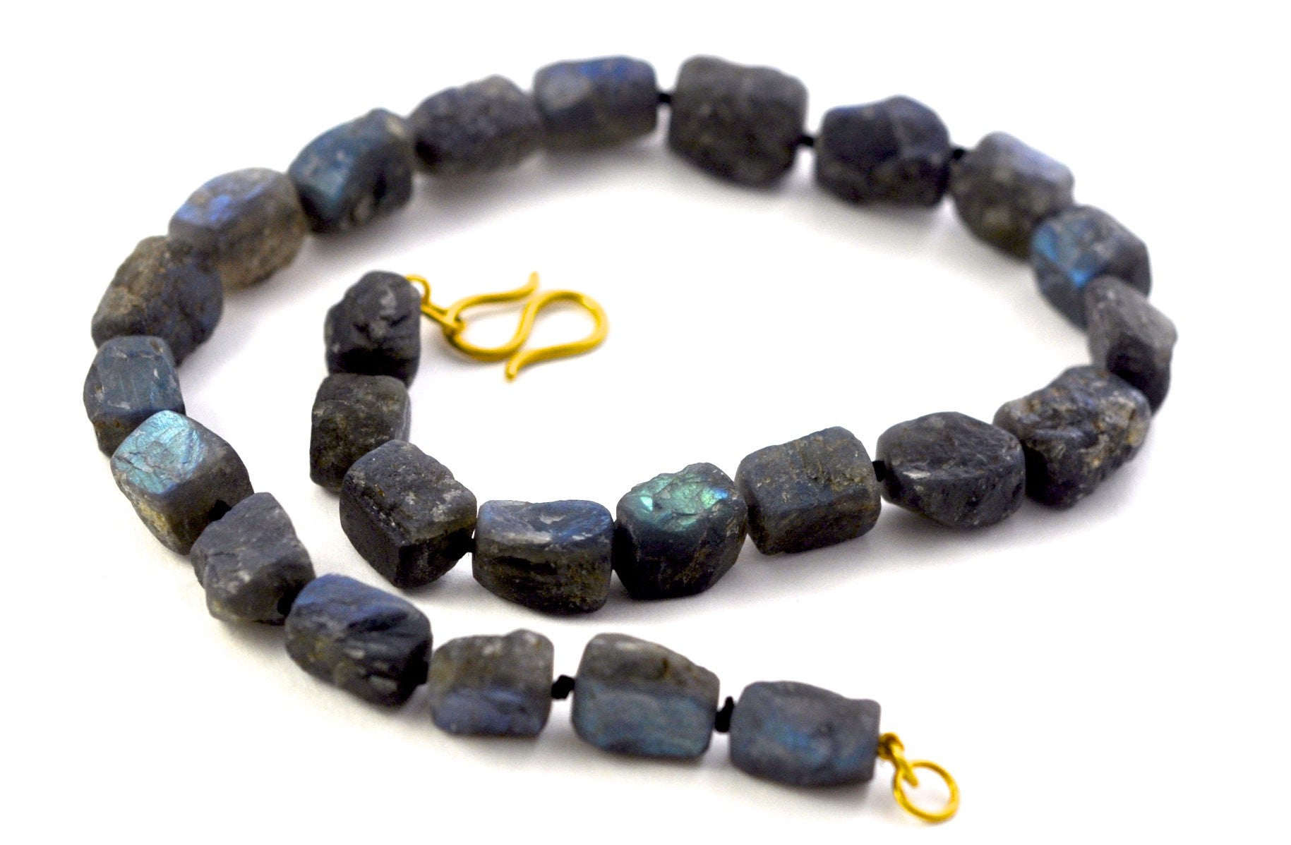 necklace / strand Labradorite + gold clasp