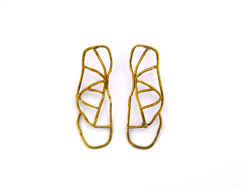 earring / brass WEB earrings