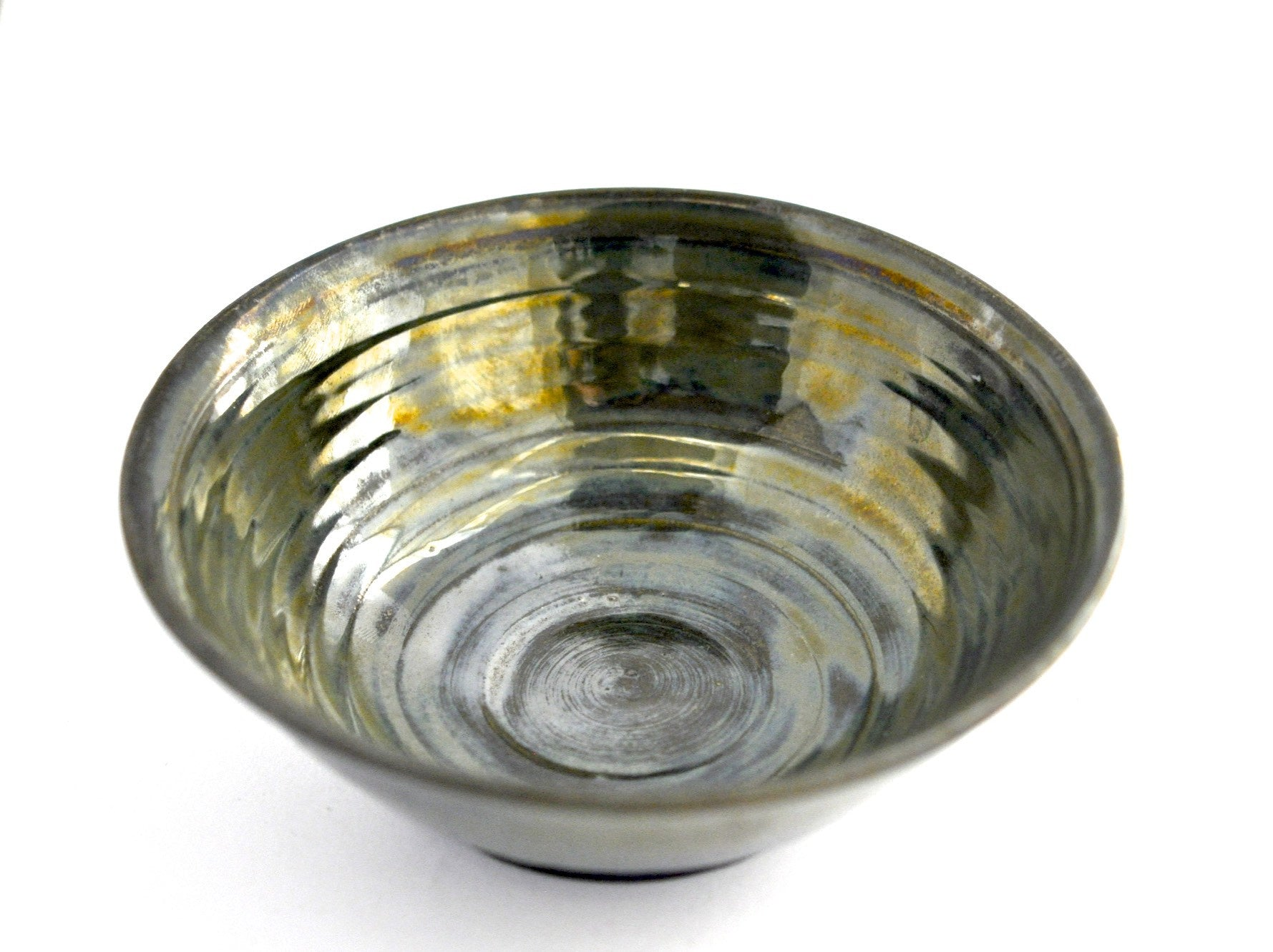 table / bowl glossy olive gold patina