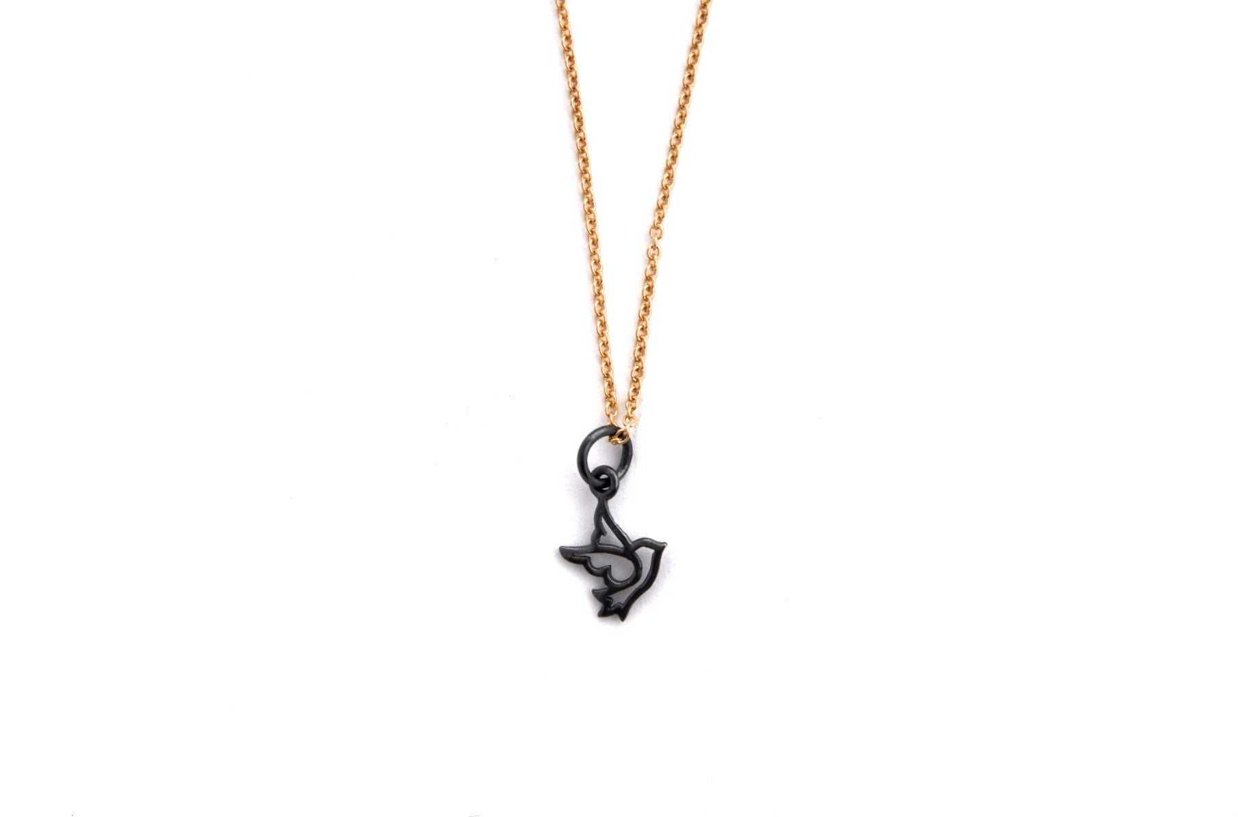necklace / silver tiny DOVE charm on fine chain