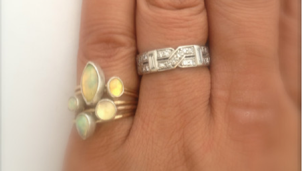 ring / ring SMALL GEMS STACKING