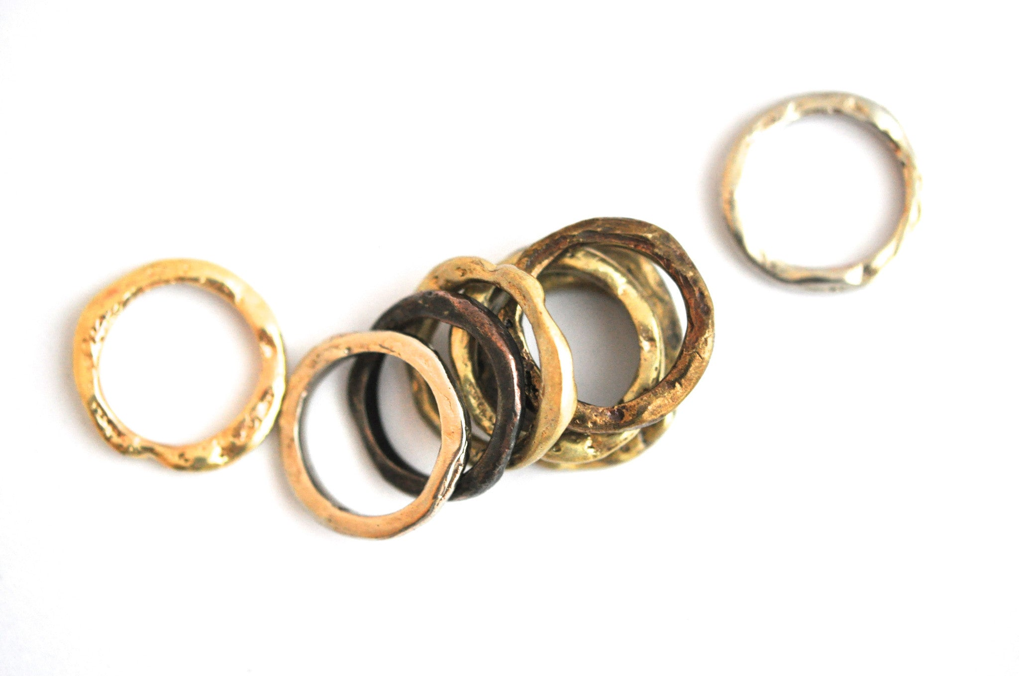 wholesale/ring/organic edge bone ring choice of metals
